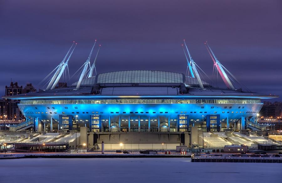 Fotooboi Stadion Quot Zenit Arena Quot Nochyu V Interere Kupit V Spb Nedorogo